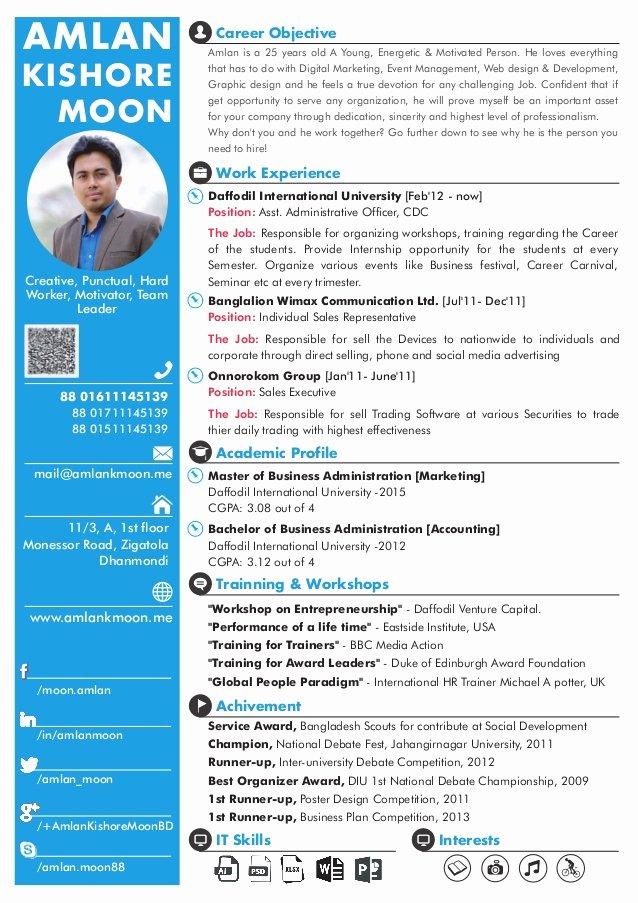 One Page Executive Summary Inspirational E Page Cv [amlan Kishore Moon]