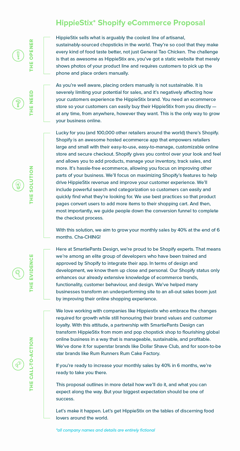 one page proposal summary new design gb dmaic e pager summary