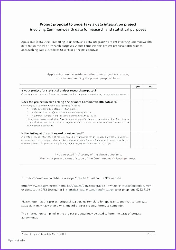 One Page Project Proposal Template Awesome 9 Front Page Of Research Proposal