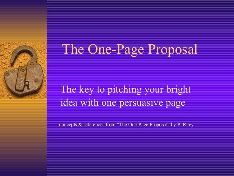 One Page Project Proposal Template Inspirational the E Page Proposal