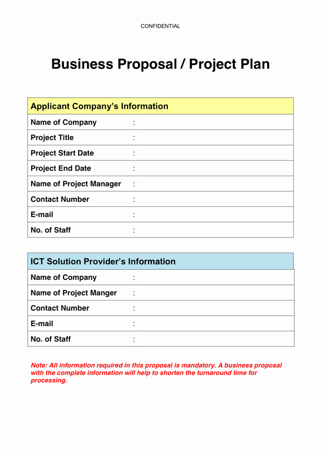 One Page Project Proposal Template Lovely Business Proposal Sample Templates In Word and Pdf formats