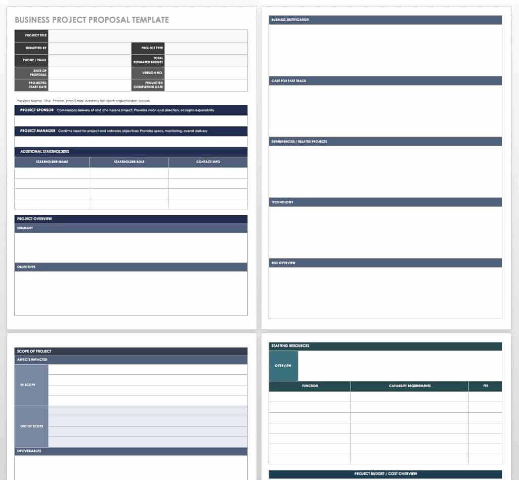 One Page Project Proposal Template New 17 Free Project Proposal Templates Tips