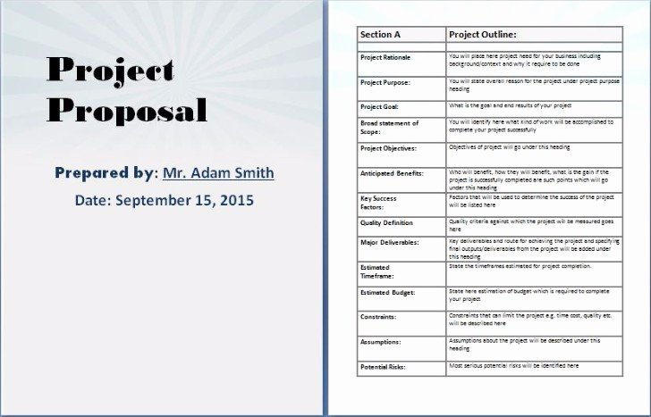One Page Project Proposal Template New 7 Free Project Proposal Templates for Any Projects