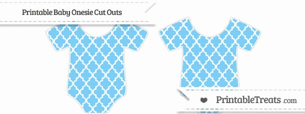 Onesie Paper Cut Out Awesome Free Pastel Light Blue Moroccan Tile Small Baby Esie Cut