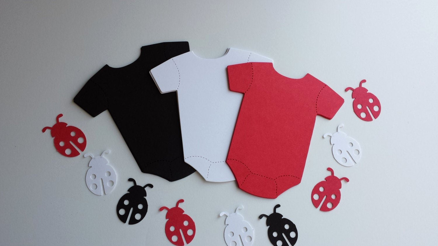 Onesie Paper Cut Out Beautiful Paper Baby Esie Cut Out and Ladybug Cuts by