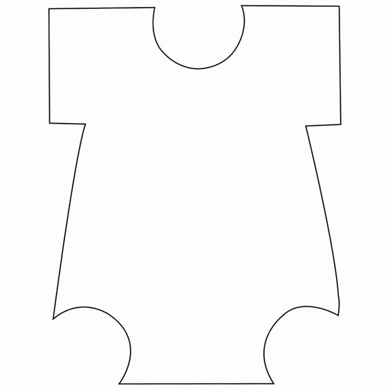 Onesie Paper Cut Out Beautiful Templates Baby Onesie and Cut Outs On Pinterest