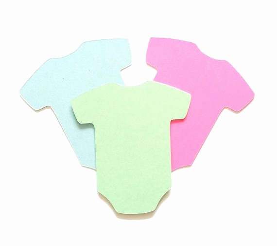 Onesie Paper Cut Out Elegant 25 Pack Paper Esie Shape Baby Esie Shapes Esie