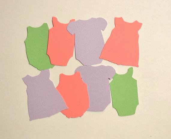Onesie Paper Cut Out Elegant Mini Esies Paper Tags 27 Die Cuts Baby Shower by Hellosprout