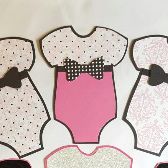 Onesie Paper Cut Out Fresh Baby Girl Esie Cut Outs 7pc Esie Paper by