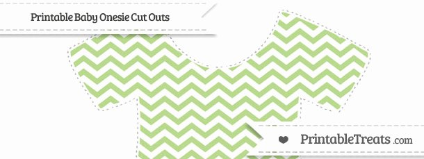 Onesie Paper Cut Out Luxury Free Pastel Light Green Chevron Extra Baby Esie