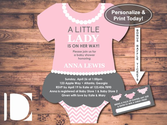 Onesie Template for Baby Shower Awesome 11 Esie Invitation Templates Free Sample Example