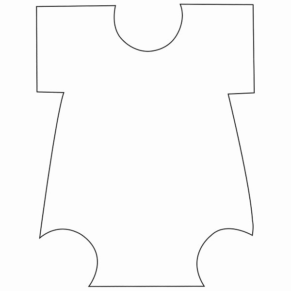 Onesie Template for Baby Shower Awesome Baby Onesie Template