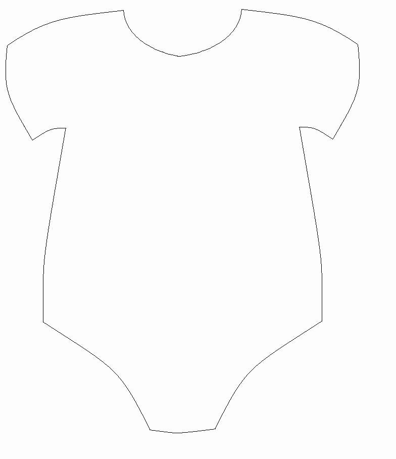 Onesie Template for Baby Shower Awesome Free Printable Baby Esie Template Baby