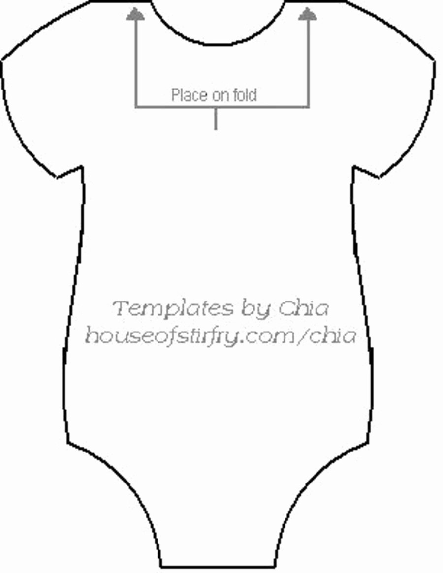 Onesie Template for Baby Shower Fresh for Baby Shower Baby Shower