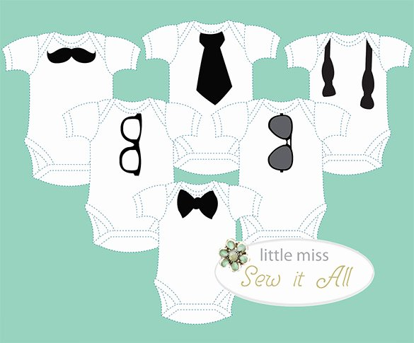 Onesie Template for Baby Shower New 20 Esie Templates Psd Pdf