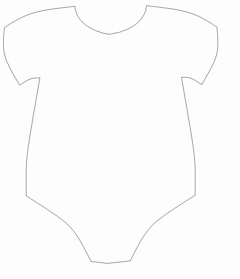 Onesie Template for Baby Shower New Free Baby Esie Cut Out Template