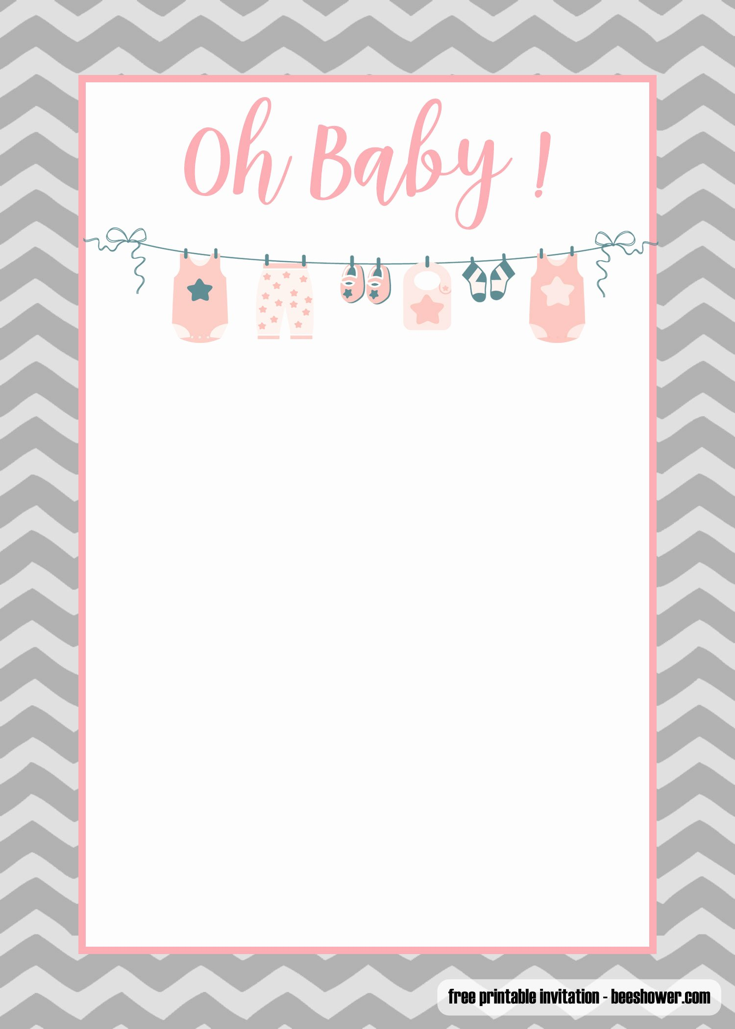 Onesie Template for Baby Shower Unique Free Printable Esie Baby Shower Invitations Templates