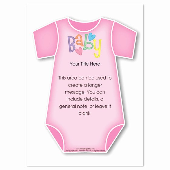 Onesie Template for Baby Shower Unique Pink Baby Esie Invitations & Cards On Pingg