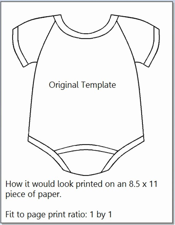 Onesies Template Printable Free Awesome Baby Epiece Templates 21 Digital Templates by