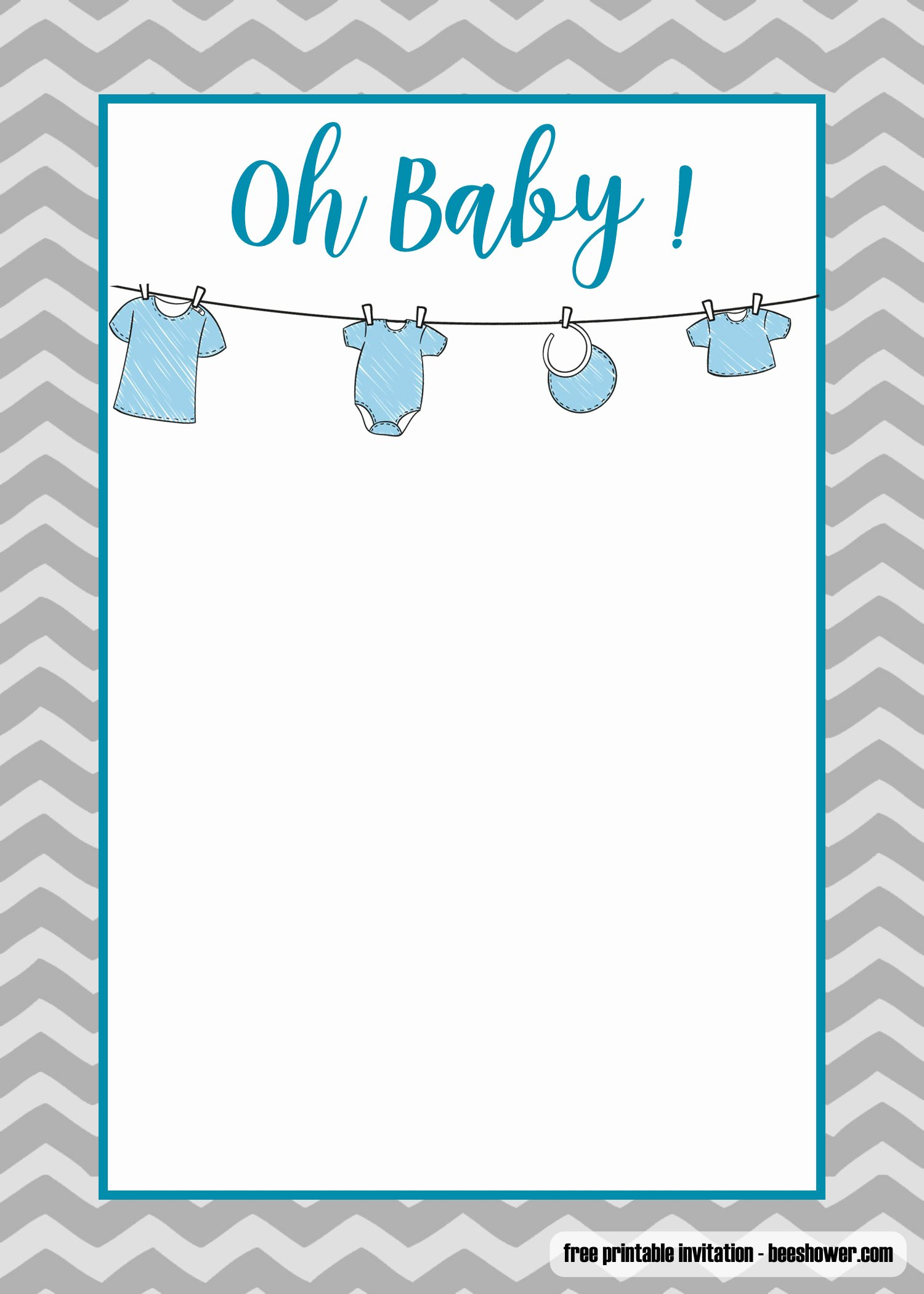 Onesies Template Printable Free Inspirational Free Printable Esie Baby Shower Invitations Templates