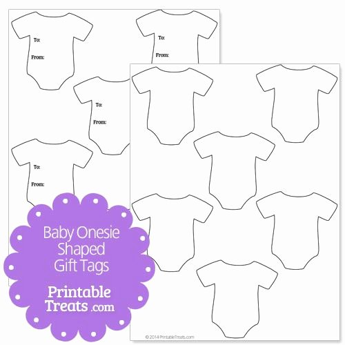 Onesies Template Printable Free Luxury Baby Esie Shaped Gift Tags From Printabletreats