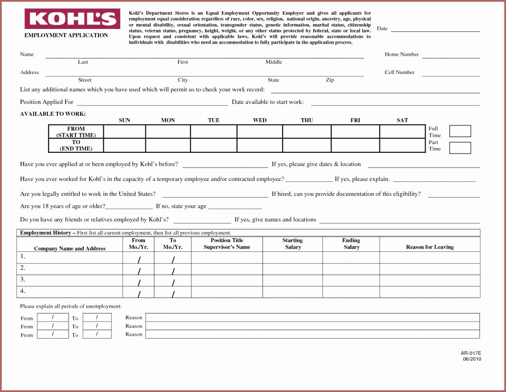 Online Printable Job Applications Awesome Printable Job Applications