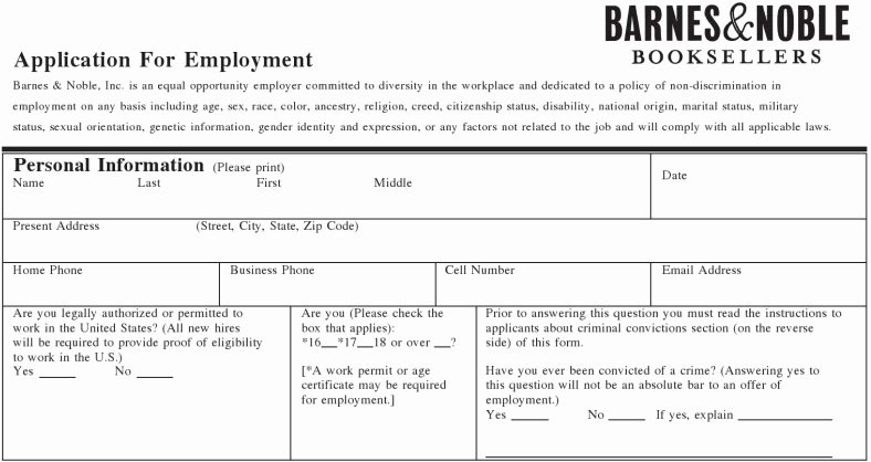 Online Printable Job Applications Best Of Printable Applications for Retail Stores