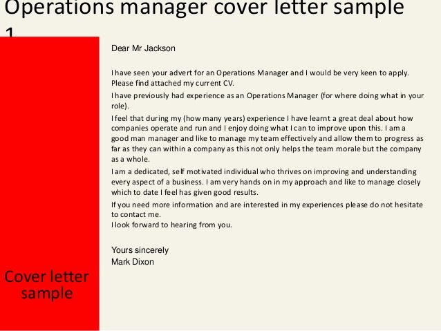 Operation Manager Cover Letter Beautiful Operations Manager Cover Letter