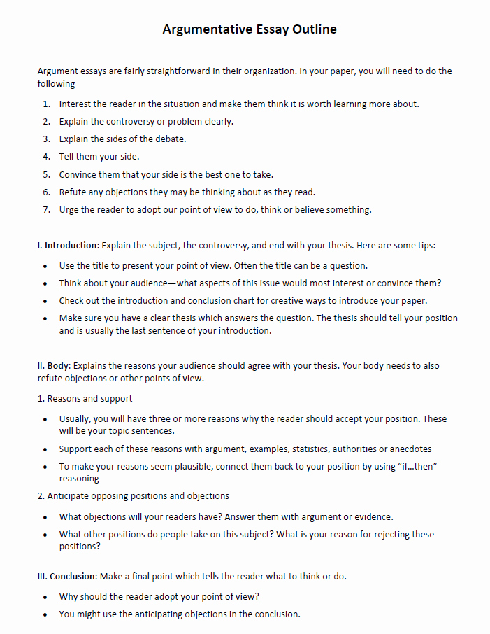 Outline format for Essay Best Of Argumentative Essay Examples and Tips that Help You to