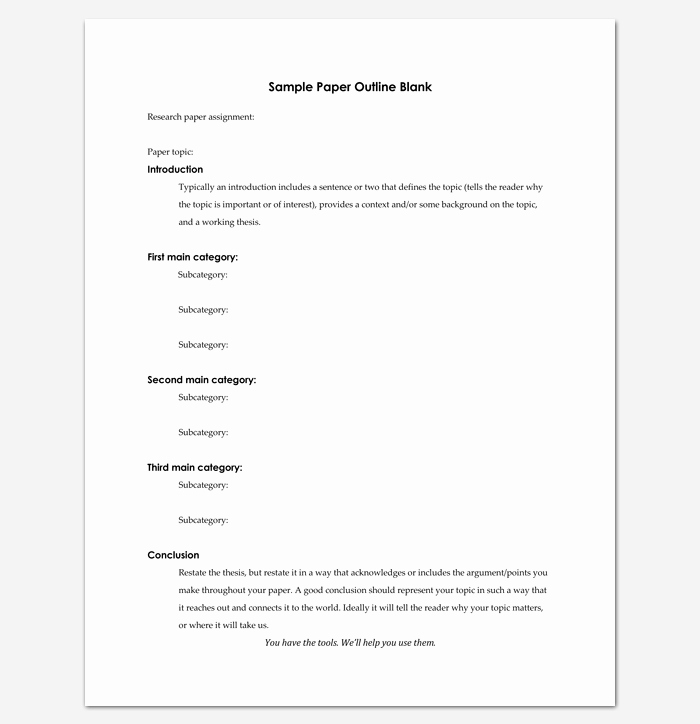 Outline format for Essay Best Of Blank Outline Template 11 Examples and formats for