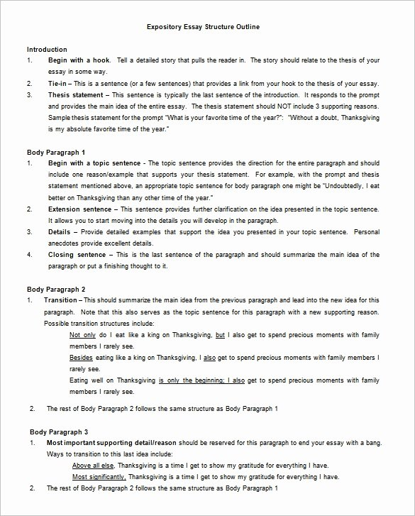 Outline format for Essay Unique Essay Outline Template 9 Free Free Word Pdf format