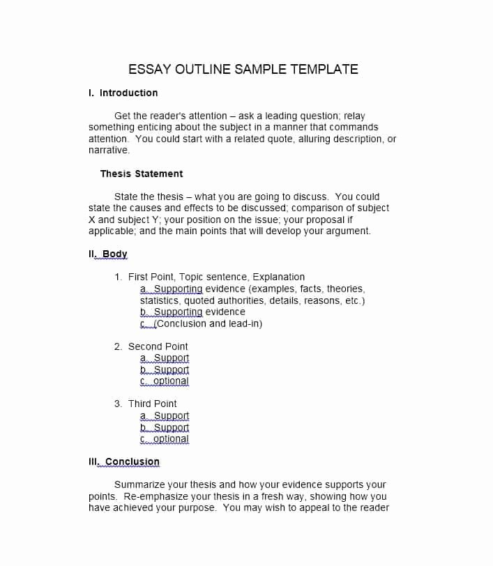 Outline Template for Essay Awesome Creative Writing Outline Template