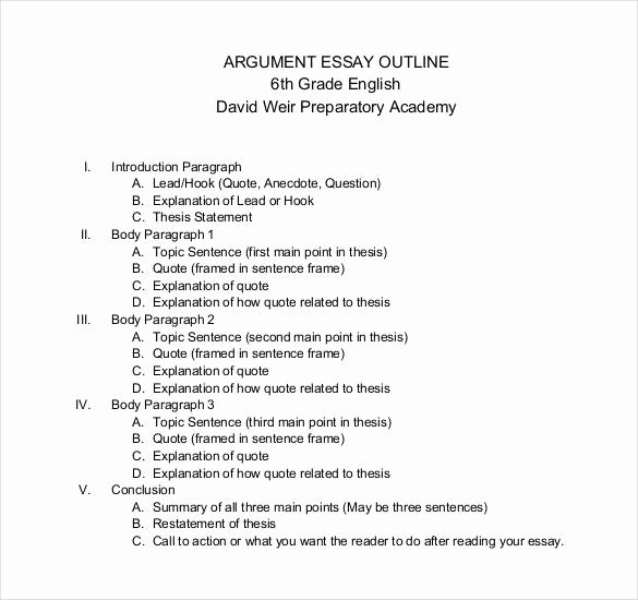 Outline Template for Essay Beautiful Simple Essay Writing Outline