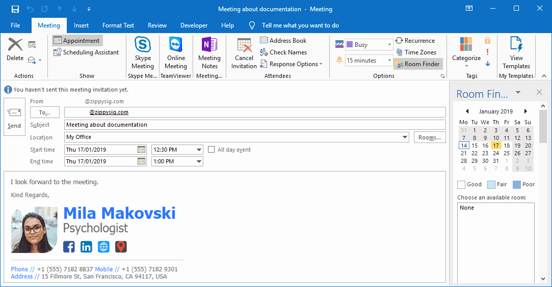 Outlook Meeting Invite Template Best Of How to Automatically Insert Email Signatures Into Outlook