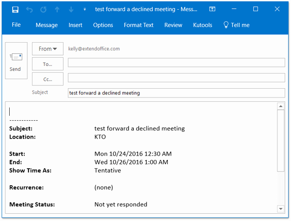 Outlook Meeting Invite Template Lovely How to forward Meeting as Email without Notifying Meeting