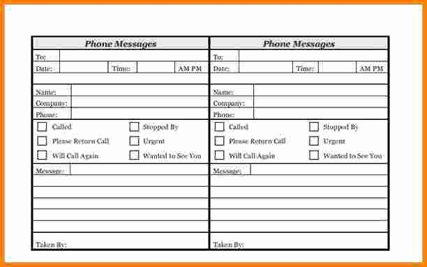 Outlook Phone Message Template Beautiful Phone Message Template
