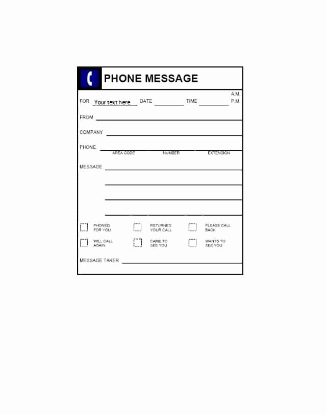Outlook Phone Message Template Inspirational 40 Voicemail Greetings & Phone Message Templates [business