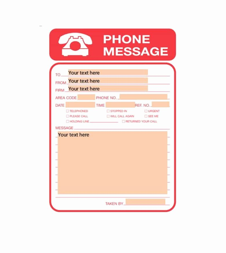 Outlook Phone Message Template Lovely 40 Voicemail Greetings & Phone Message Templates [business