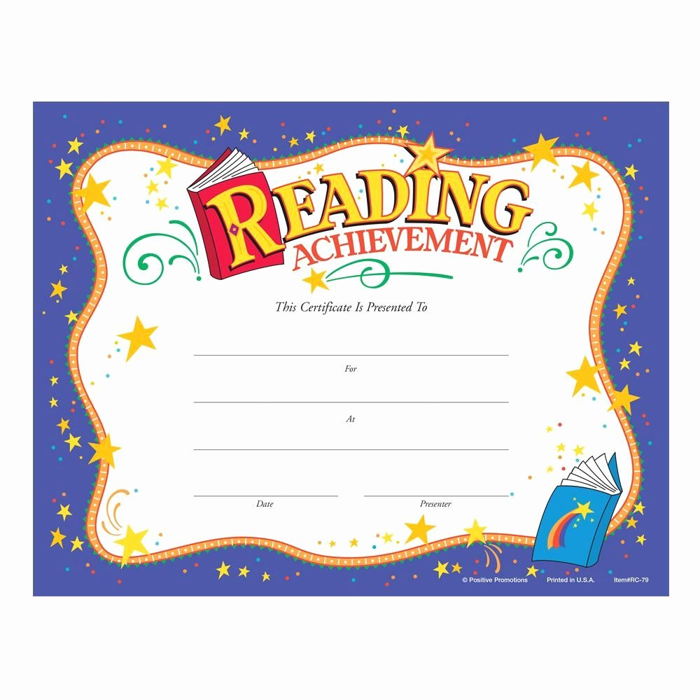 Outstanding Achievement Award Template Elegant Reading Achievement Award Purple Gold Foil Stamped