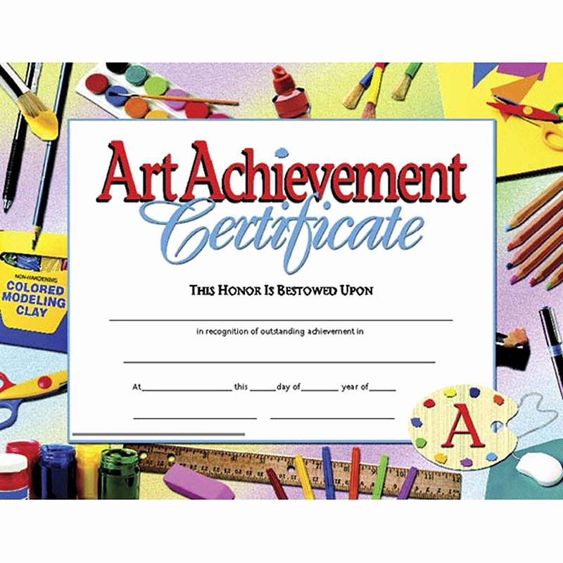 Outstanding Achievement Award Template Inspirational Certificates Art Achievement 30 Pk In 2019