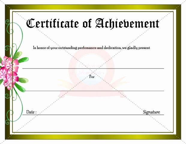 Outstanding Achievement Award Template Lovely Certificate for Outstanding Achievement & Dedication