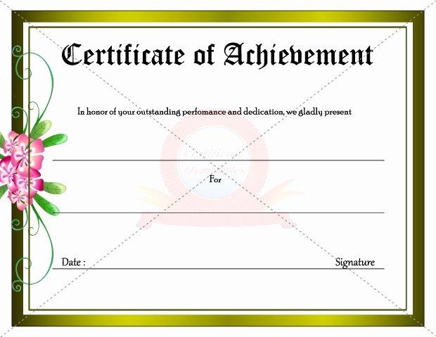 Outstanding Achievement Award Template Lovely Certificate for Outstanding Achievement & Dedication