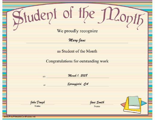 Outstanding Achievement Award Template Luxury A Striped Printable Certificate Honoring the Outstanding