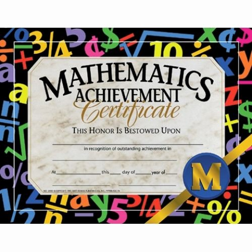 Outstanding Achievement Award Template New Math Achievement Certificate Reward Your Students for