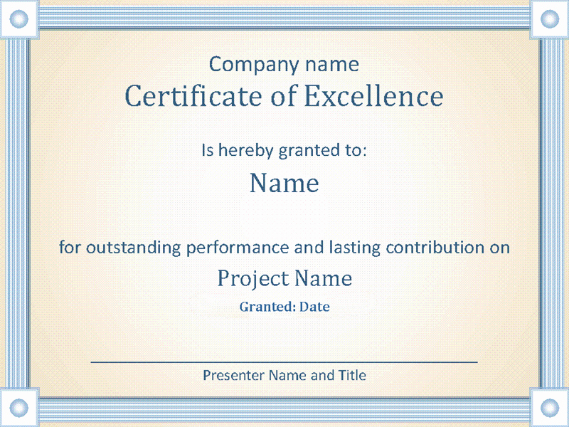 Outstanding Achievement Award Template New Reward An Employee S Outstanding Performance with This