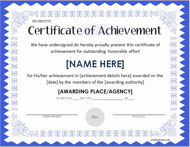 Outstanding Achievement Award Template Unique 29 Of Success Certificates Template