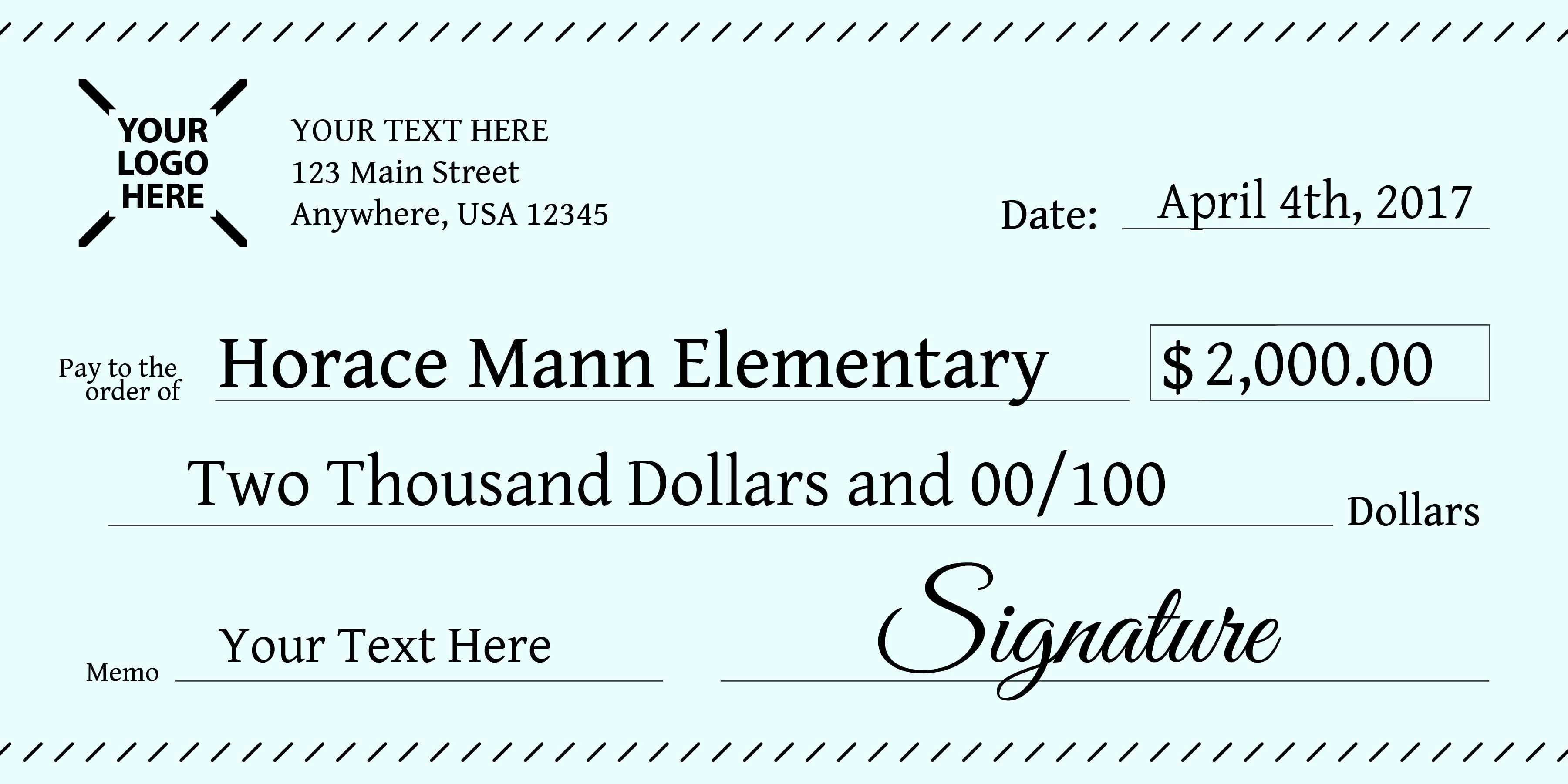 Oversized Check Template Free Beautiful Signage 101 Giant Check Uses and Templates