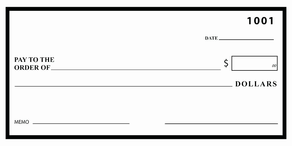 Oversized Check Template Free Elegant Big Check Template Free