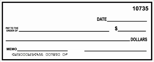 Oversized Check Template Free Luxury Check Template