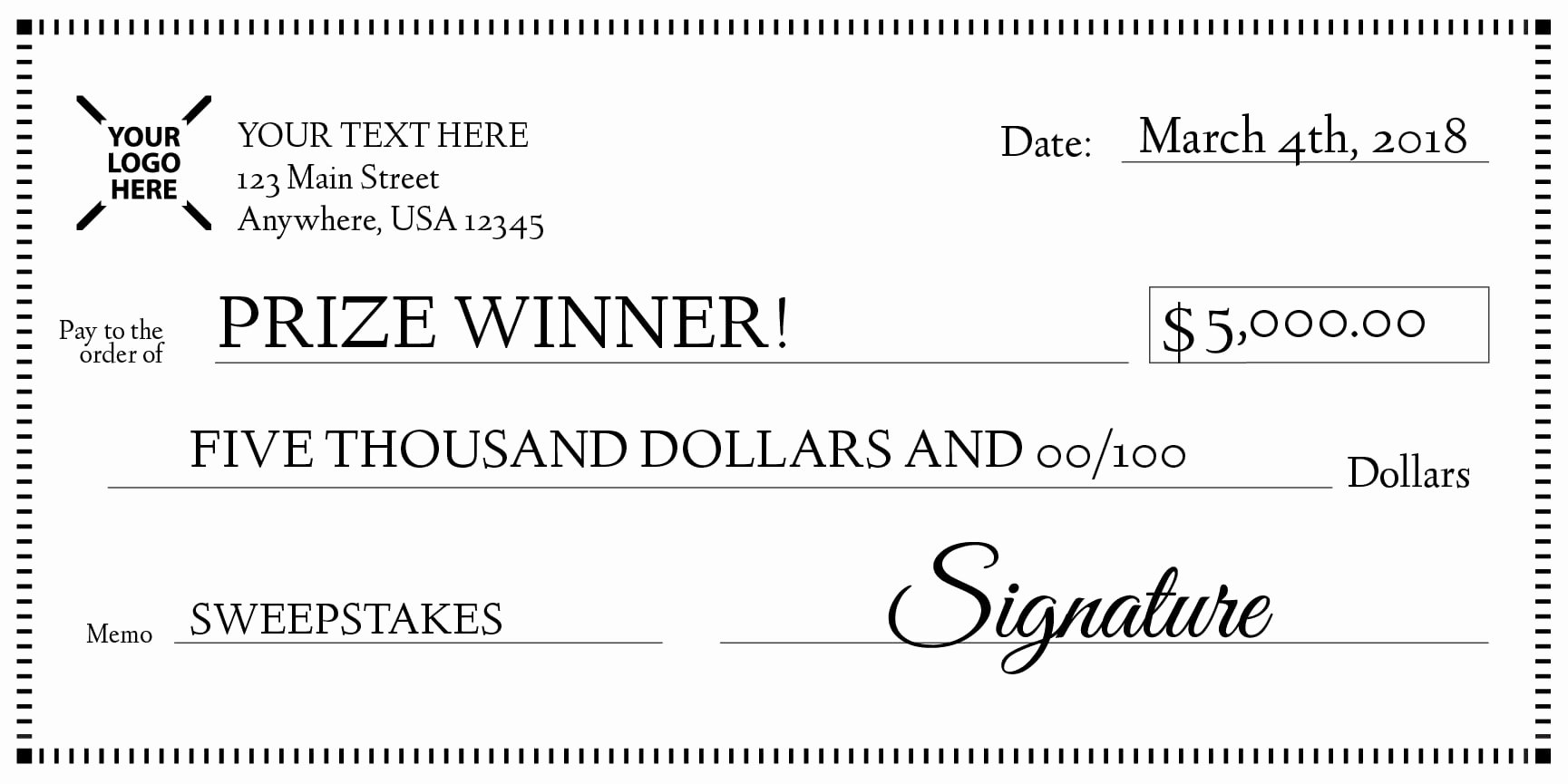 Oversized Check Template Free Luxury Signage 101 Giant Check Uses and Templates